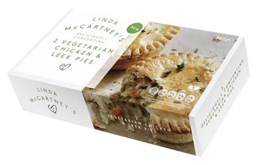 A Shortcrust Pastry Base Filled With Chicken Style Pieces Made With Rehydrated Textured Soya And Wheat Protein In A Creamy Carrot And Leek Sauce