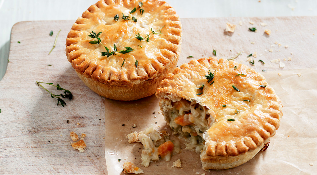 Vegetarian Chicken Leek Pies